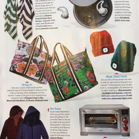 Oprah Magazine print, Wolf Gourmet, January 2018 Issue
